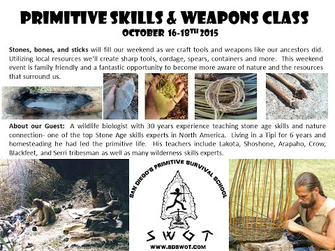 Primitive Skills & Weapons Class 10/2015