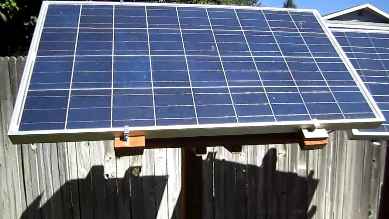 Diy Solar Panel Rack Youtube