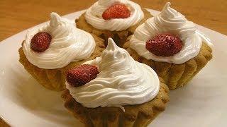 Пирожное Корзиночка: вкус детства / How to make Sweet tarts with meringue ♡ English subtitles