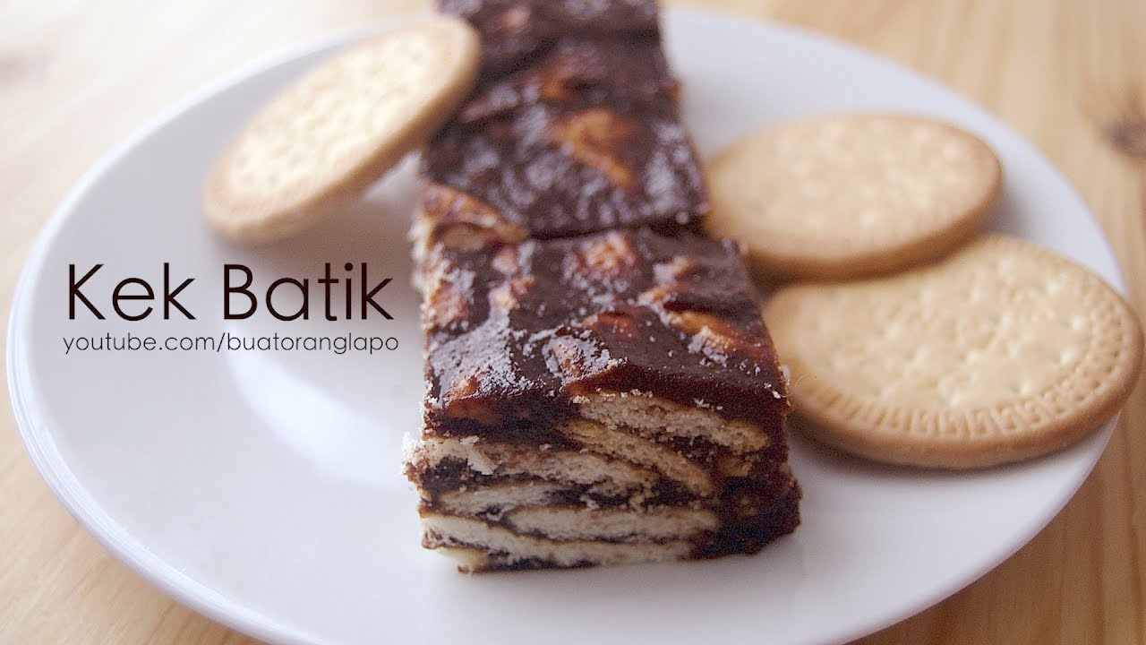 Cara buat Kek Batik biskut marie - YouTube