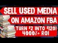 Sales & Profits From Selling Books & Used Media On Amazon FBA In 2019!