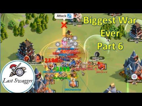 Biggest War Ever Part 6! 1B Power Fight! Kingdom 96 RD1 vs GO+! Rise of Civilizations
