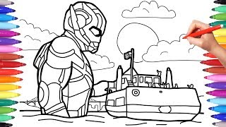 Antman Coloring Pages, How to Draw Antman, Superheroes Coloring Pages, Marvel Antman and the Wasp
