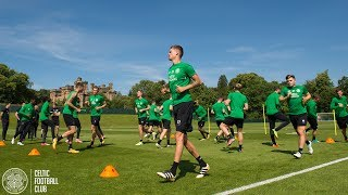 Celtic FC - #UCL training as the Hoops prepare to host Linfield