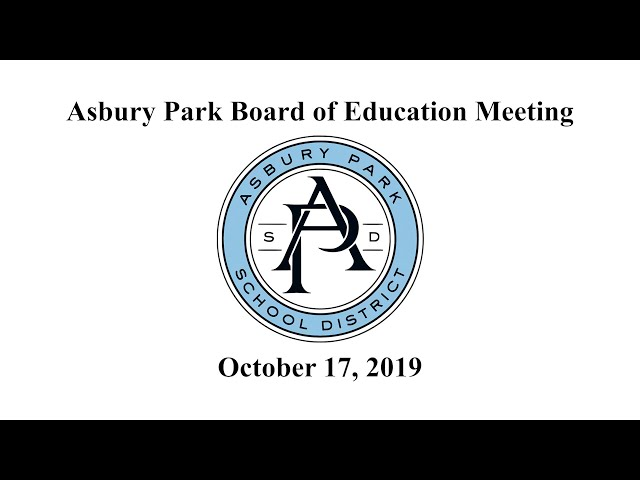 Asbury Park Board of Education - October 17, 2019