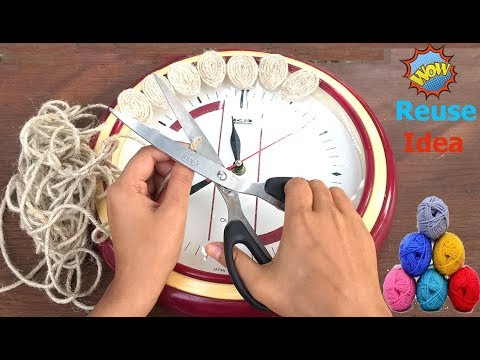 diy-decorative-old-wall-clock-with-jute-rope-||-best-out-of-waste-||-reuse-craft-ideas