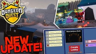 NEW UPDATE!!! DUNGEON QUEST WAVE DEFENCE FREE TITLES!!   ROBLOX LIVE! *ROAD TO 1.5K SUBS*