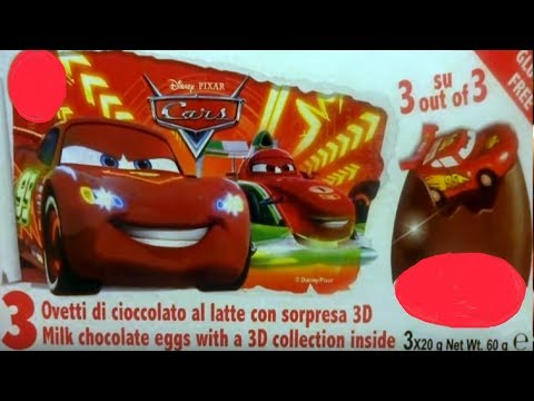 12 Cars 3D Cars 2 Disney Pixar Lightning McQueen  Kinder Surprise Eggs #89
