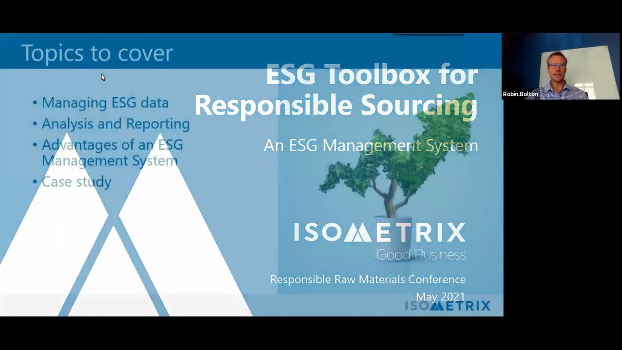 Robin Bolton - ESG Toolbox for Responsible Sourcing
