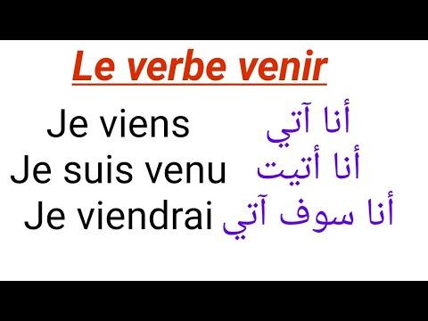 La Conjugaison Du Verbe Venir Au Present Au Passe Compose Au Futur Et A L Imparfait Youtube
