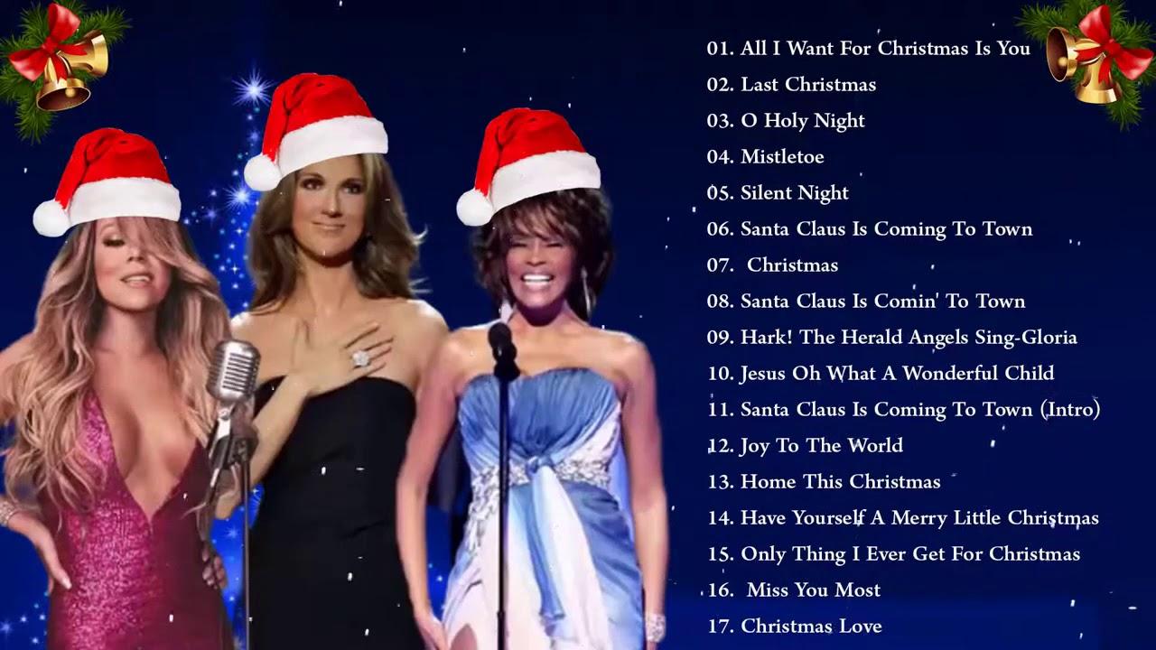 Whitney Houston, Mariah Carey, Celine Dion, Ariana Grande, Justin Bieber Best christmas Songs ...