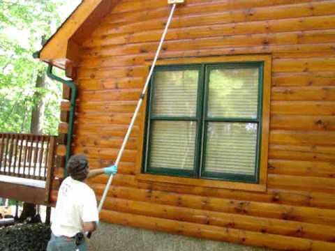 Log Home Pressure Washing Maintenance Cleaning  Youtube