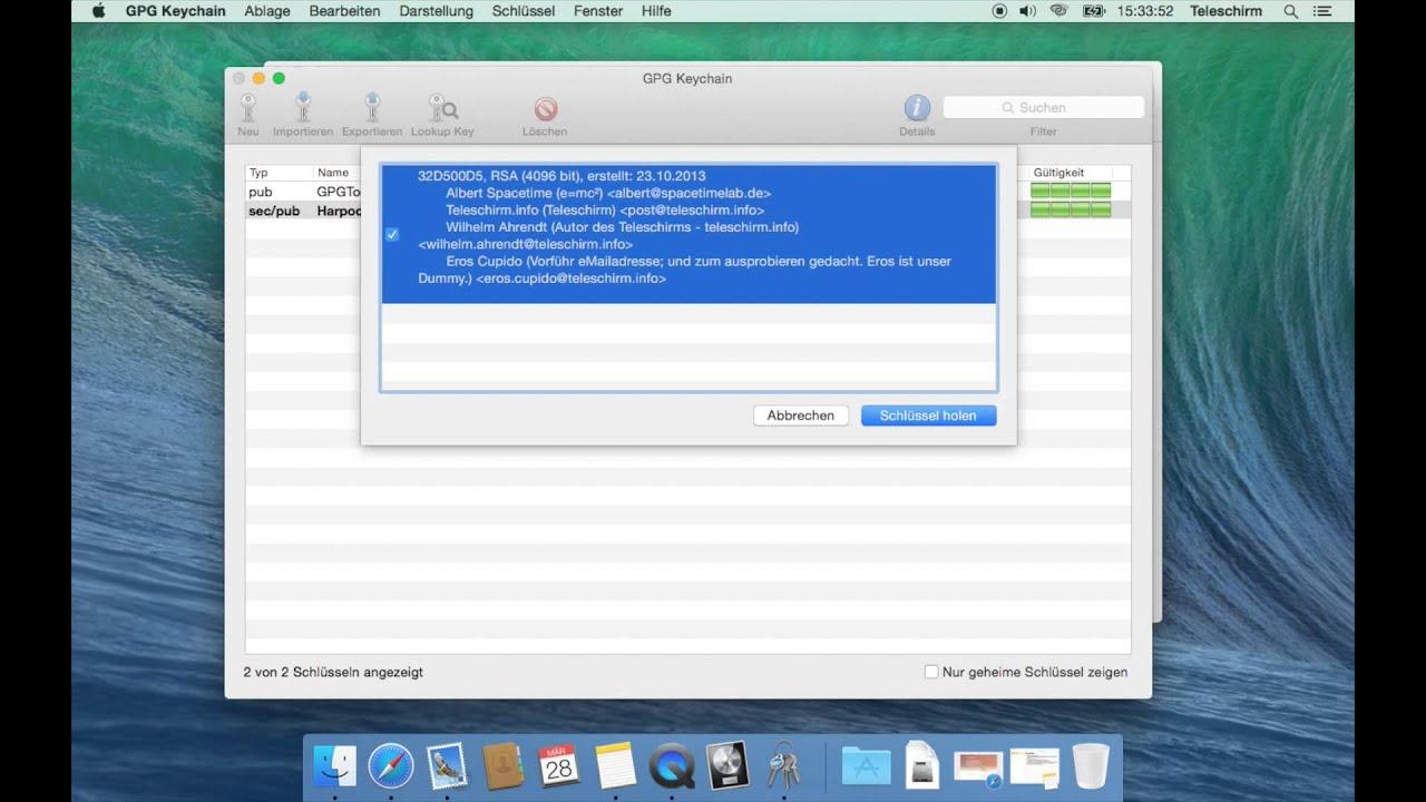 PGP am  Mac: Einführung & Schlüsselpaar erstellen (1) - Teleschirm