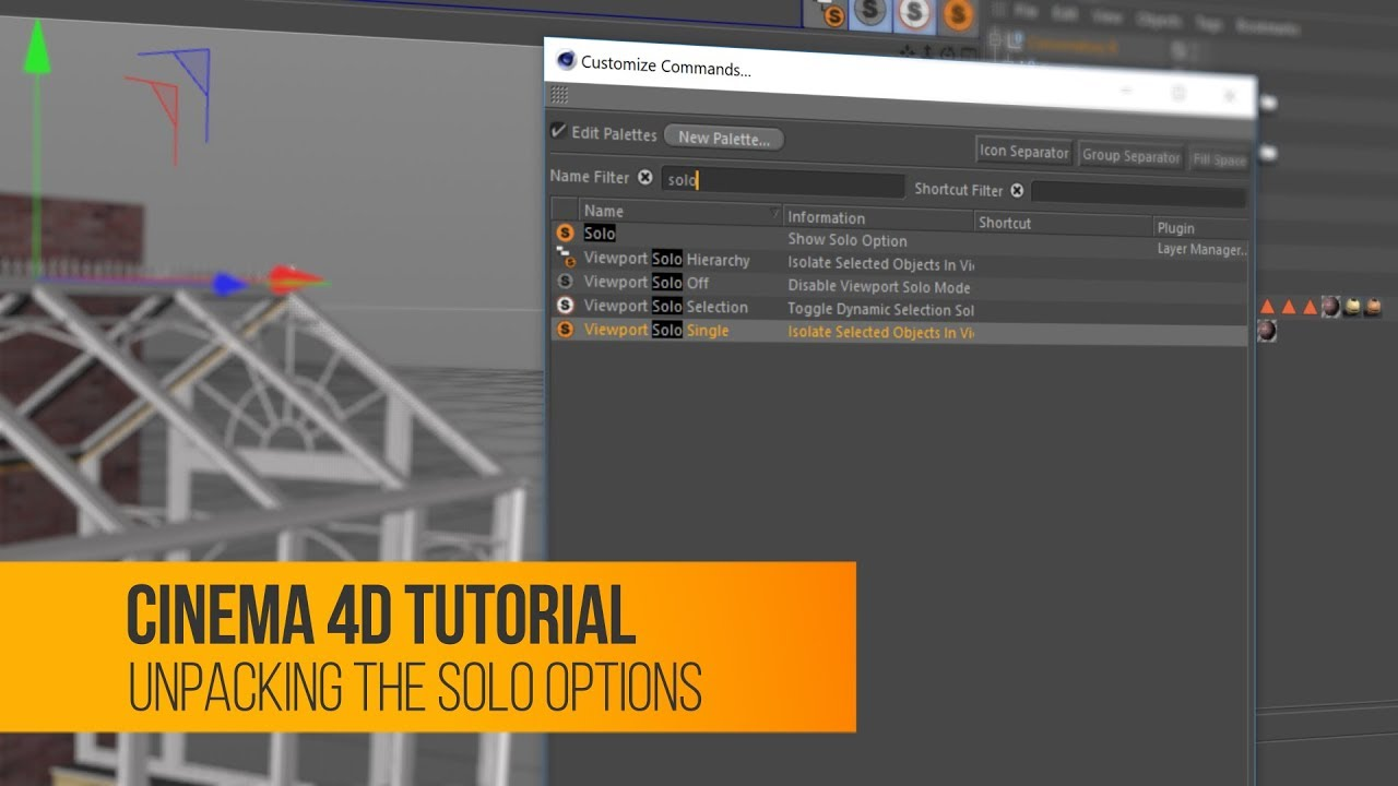 Cinema 4D Tutorial: Solo Options Overview