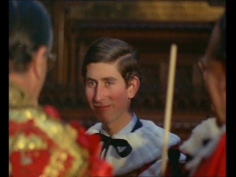 Prince Charles At House Of Lords (1970)
