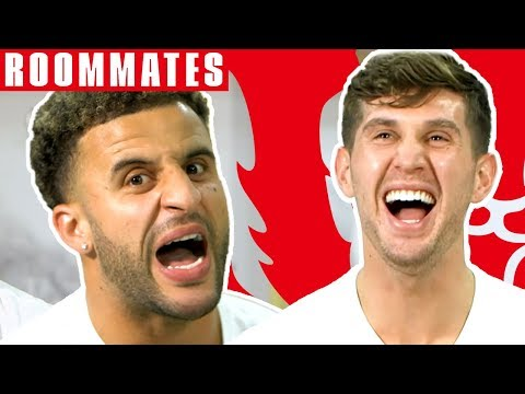 Walker v Stones | Walker STILL Cant Believe his FIFA 19 Stats! | Roommates | England
