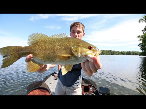 Smallmouth Bass Love Pink Worms-- Wisconsin VLOG No. 3
