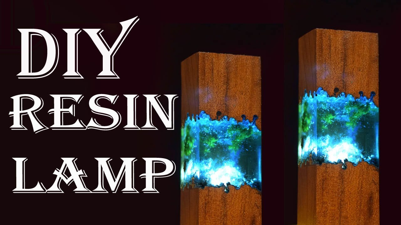 Easy Making Epoxy Resin Lamps How To Make Night Lamp With Resin And Wood