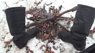 Как в зимнем походе сушить обувь и ноги