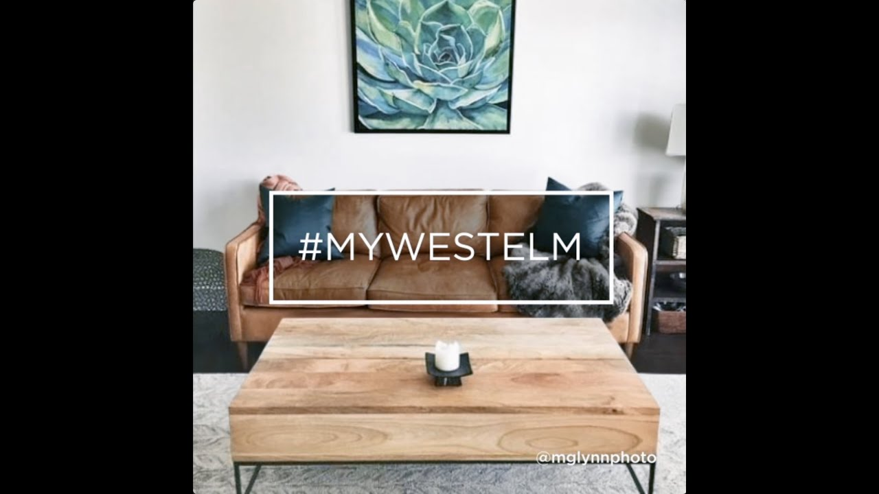 The industrial storage coffee table mywestelm youtube for West elm industrial storage coffee table