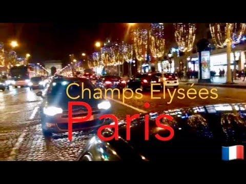 PARIS CHAMPS ELYSÉES À NOITE