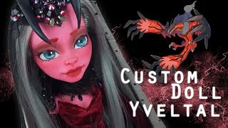 Custom Doll Repaint! Pokemon Yveltal MH/EAH OOAK – Collab with Dollightful and Doll Motion!