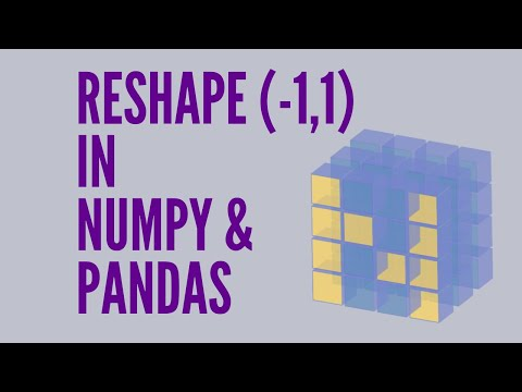 What exactly is reshape(-1,1) in Numpy & Pandas (Python