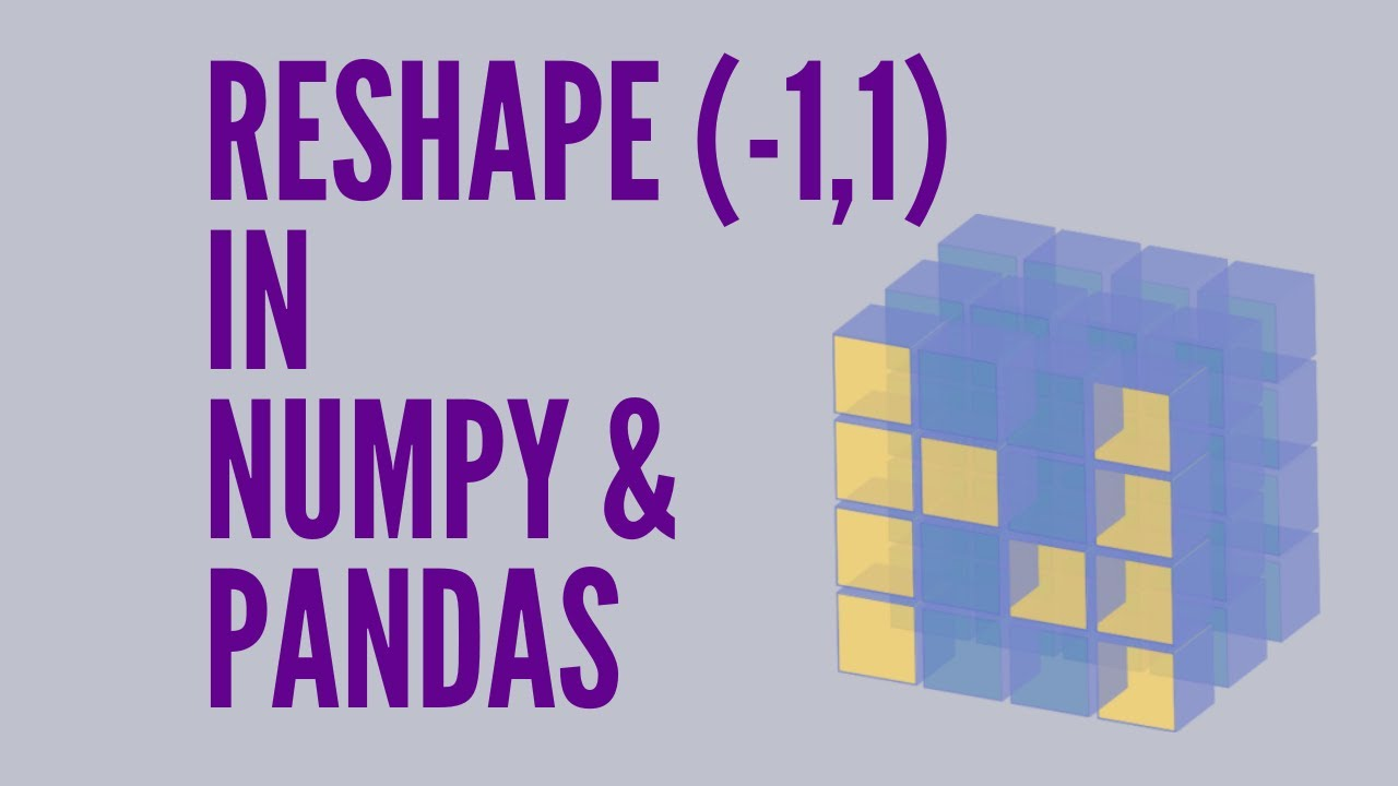What does numpy reshape(-1 1) mean?
