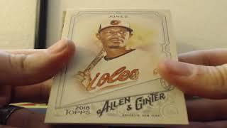 2018 Topps Alen & Ginter Baseball 6 Box Half Case Break 7-18-2018 (DINO DNA!!!)