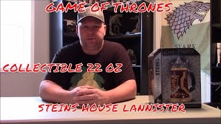UNBOXING GAME OF THRONES COLLECTIBLE 22 OZ. STEINS HOUSE LANNISTER