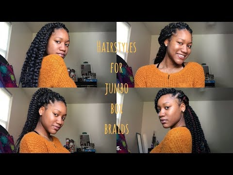 Hairstyles For Jumbo Box Braids | Protective Style | Rubber Band Method