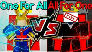 ROBLOX - JEFF x'i ALL FOR ONE 'i giét boss ALL MIGHT - BoKu No ROBLOX