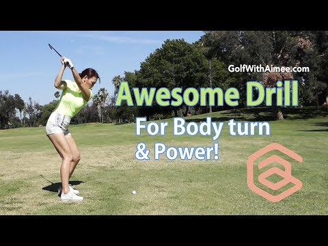 Awesome Drill for Power Golf Swing | Golf with Aimee