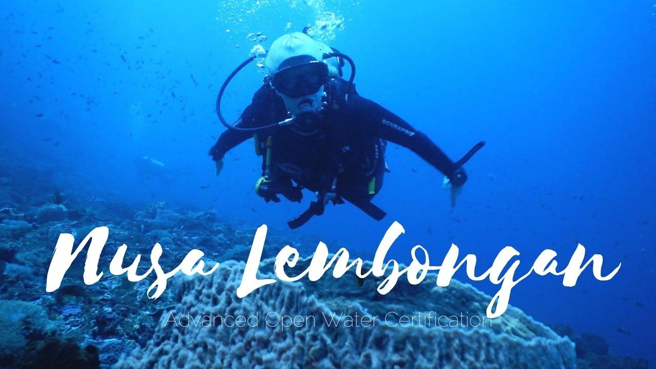 Nusa Lembongan Bali Advanced Open Water Certification Youtube