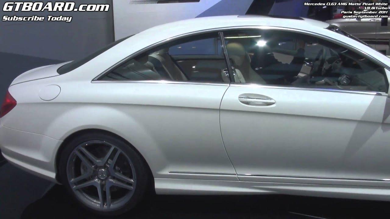 1080p Mercedes Cl63 Amg Biturbo Matte White Pearl Youtube