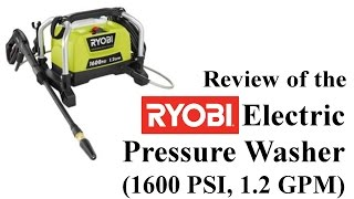 Review of the Ryobi 1600 PSI Electric Pressure Washer
