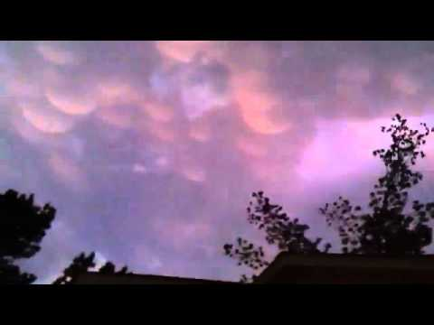 INCREDIBLE Mammatocumulus Clouds!!! HAARP involved?