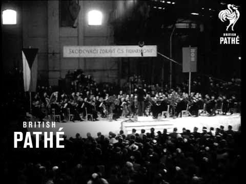 Czechoslovakian  Philharmonic Play For Workers. (1948)