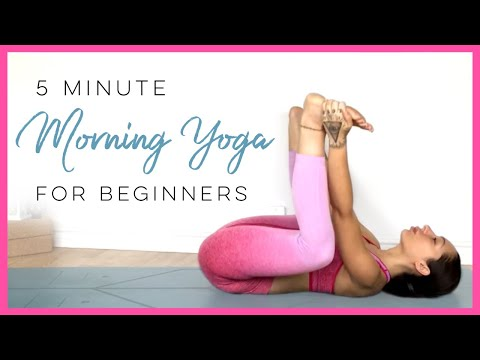 5 Minute Yoga (BEST Morning Yoga Stretches For Beginners!)