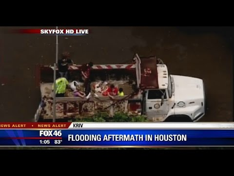 Flooding aftermath near Houston, Texas