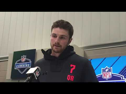 WSU QB Luke Falk eloquent, real at combine on Tyler Hilinski's death