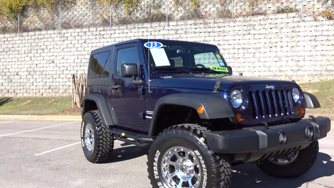 2013 Jeep Wrangler Sport Lifted 35 inch tires - YouTube