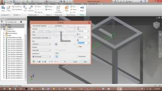 [How To Make] Frame (Rangka) With Frame Generator | Autodesk Inventor | Indar Luh Sepdyanuri #Part 1