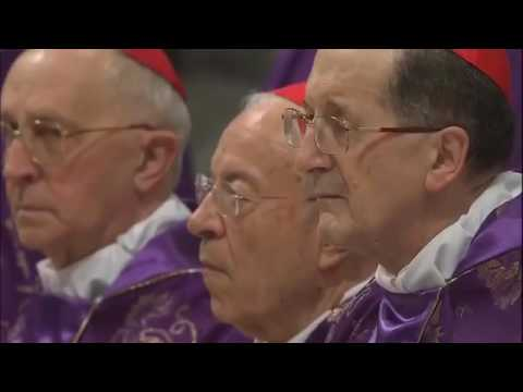 Holy Mass on Ash Wednesday, with Pope Francis from St. Peter's Basilica, Vatican 10 Februa