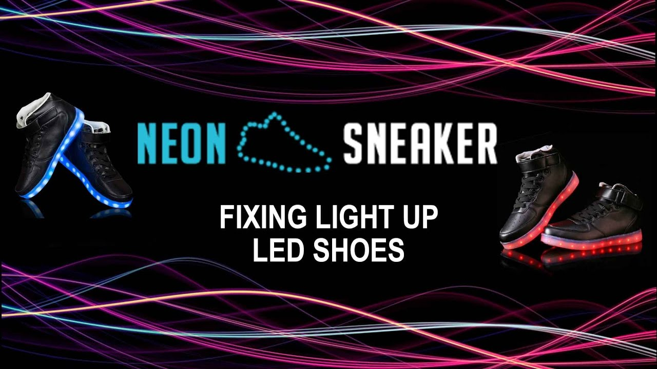 How to fix light up led shoes neon sneaker youtube solutioingenieria Gallery
