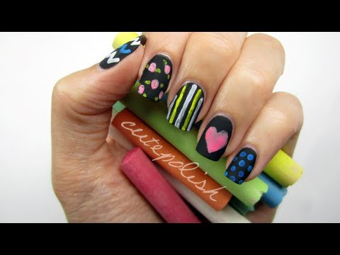 Back to School: Chalkboard Nails?! - YouTube