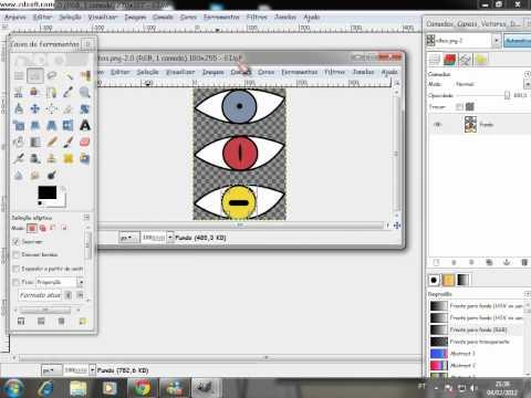 Tutorial Gimp - Anime Naruto - Olho Mode Sennin