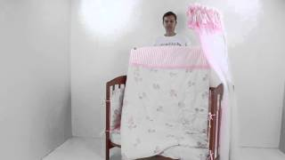 видео Детское постельное белье в кроватку для новорожденных