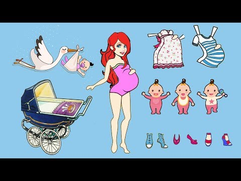 PAPER DOLL MERMAID BABY SHOWER HANDMADE PAPERCRAFT ON CHRISTMAS