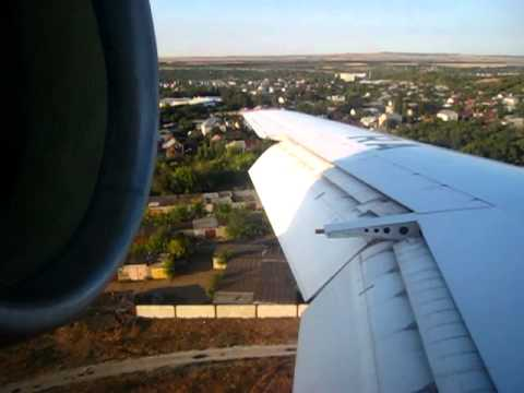SarAvia Yak-42D - Landing Rwy 12 at Saratov Tsentralny Airport (RTW), Russia